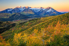 Fall daybreak landscape in the Wasatch Mountains. Stock Photography
