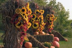 Fall decorations. A great display of fall decorations royalty free stock photos