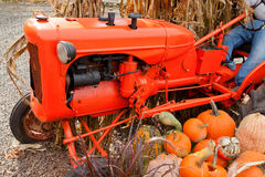Fall decorations at the farm. Colorful Fall holiday decorations at the farm Stock Photo