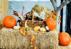 Fall decorations at the Old Town in San Diego, California stock images
