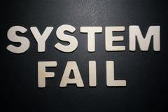 Fall del sistema fotografía de archivo libre de regalías