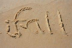 Fall in den Sand Lizenzfreie Stockfotos