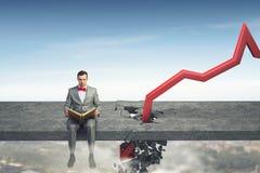 Fall and depreciation . Mixed media Stock Photography