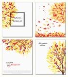 Fall der Blätter Hallo Herbst werden gezeichnet Hintergründe mit der Hand Skizze, Gestaltungselemente Vektor Ard, Einladung Lizenzfreies Stockbild