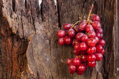 Fall der roten Trauben auf Klotz Stockbild