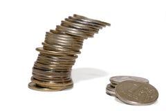 Fall des Rubelkonzeptes Lizenzfreies Stockfoto