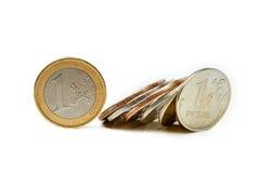 Fall des Rubels Lizenzfreie Stockbilder