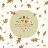 Fall Design with Autumnal Leaves. Illustration of a Fall Design with Autumnal Leaves Stock Photos