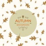 Fall Design with Autumnal Leaves. Illustration of a Fall Design with Autumnal Leaves royalty free illustration