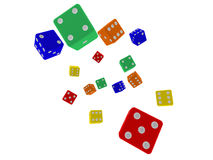 Fall of the dice Stock Images