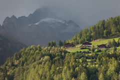 Fall in die Alpen, ahrntal ITALIEN Stockfoto