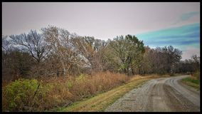 Fall dirt road. Autumn day drive ole back roads Stock Images