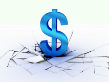Fall dollar currency Stock Images