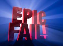 Fall dramático, épico stock de ilustración