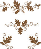 Fall embellishment set. A set of ornate embellishments in tones of chocolate brown royalty free illustration