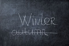 The fall ended, and the winter came! Stock Image