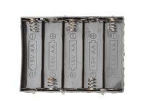 Fall för batterihållare arkivbilder
