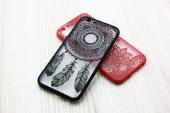 Fall för telefonräkningen för smartphone royaltyfri foto