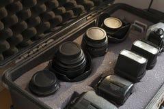 Fall för utrustning för Digital kamera stötsäkert royaltyfria bilder