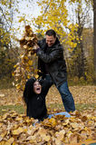 Fall Family Fun Stock Image