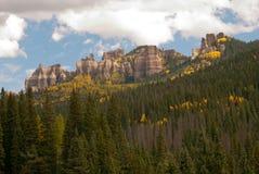 Fall-Farbe in den San- Juanbergen von Kolorado Lizenzfreie Stockfotos