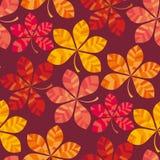 Fall farbige Tapetenvektorillustration nahtloses Muster des Packpapiermotivs Stockfotografie