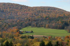 Fall on the Farm. A scenic view of a rural farm in Autumn Stock Image