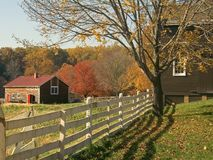 Fall Farm Fence. An Autumn view of the historic Longstreet Farm in Holmdel, New Jersey Stock Photos