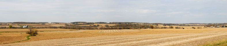 Fall farm field panorama Royalty Free Stock Photos