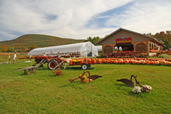 Fall farm stand. With pumpkins, Bennington, Vermont Royalty Free Stock Photos