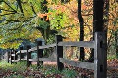 Fall fence royalty free stock photo