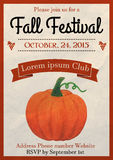 Fall Festival flyer Royalty Free Stock Images