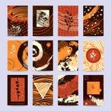 Autumn Season Festival Flyer, Business Card Design stock illustration