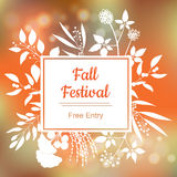 Fall festival. Vector colorful illustration Stock Photos