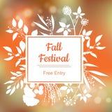 Fall-Festival Vektorbunte Abbildung Stockfotos