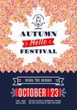 Fall-Festivalschablonenposter A4 Hintergrund-Ahornblatt lizenzfreie abbildung
