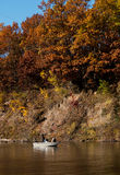 Fall fishing on the river Royalty Free Stock Images