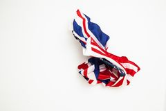 The fall of the flag of the United States and Great Britain. Royalty Free Stock Photos