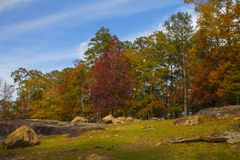 Fall at Flat Rock Park. `Fall at Flat Rock Park` is photo taken at Flat Rock Park during the Fall season, located in Columbus, Georgia stock image