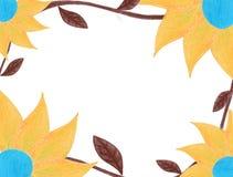 Fall flower frame stock images