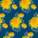Fall flower seamless pattern.  Stock Images