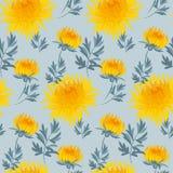 Fall flower seamless pattern. Stock Photography