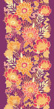 Fall flowers and leaves vertical seamless pattern Stock Photography