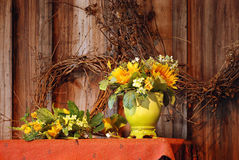 Fall flowers still life Royalty Free Stock Photo