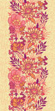 Fall flowers vertical seamless pattern background Stock Photos