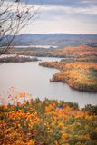 Fall Foilage in New Hampshire lizenzfreies stockfoto