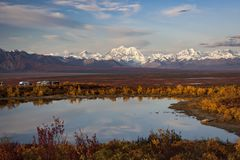 Alaska Range in Denali Royalty Free Stock Photos