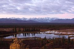 Alaska Range in Denali Stock Photography