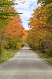 Fall Foliage on the back roads of Vermont. The splendor of autumn foliage on the back roads of Vermont in the Northeast Kingdom region Stock Image