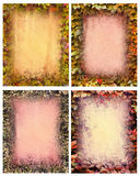 Fall foliage backgrounds Stock Image